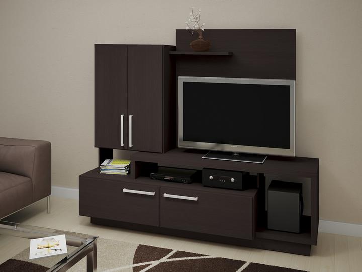 avenida muebles mesa para tv con puertas y espacio para led