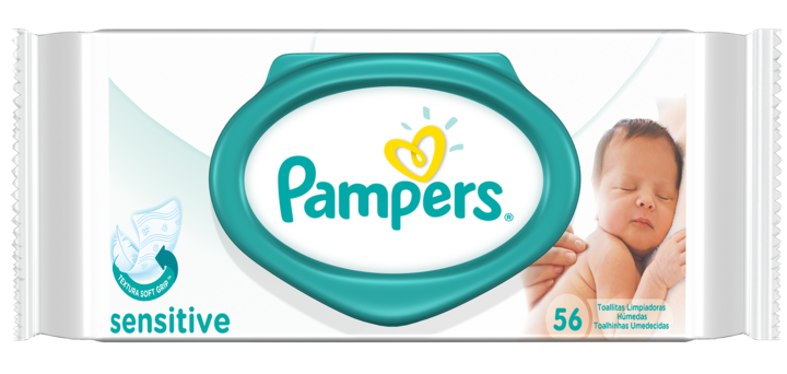 Toallitas - Pampers Pack x 6 Toallitas Pampers Sensitive 56 unid