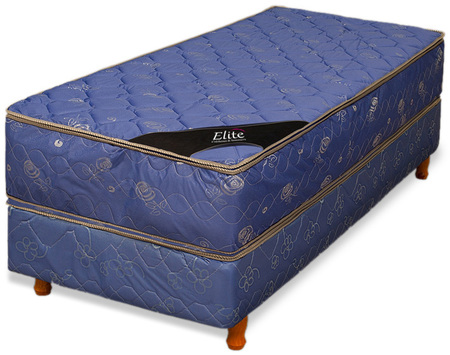 Elite Colchón y Sommier de 140x190 Elite Con Pillow Top Matelaseado Lujo (2 plazas)