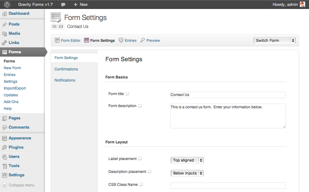 Gravity Forms v1.7 Beta 1 Released   Gravity Forms  Gravity Forms