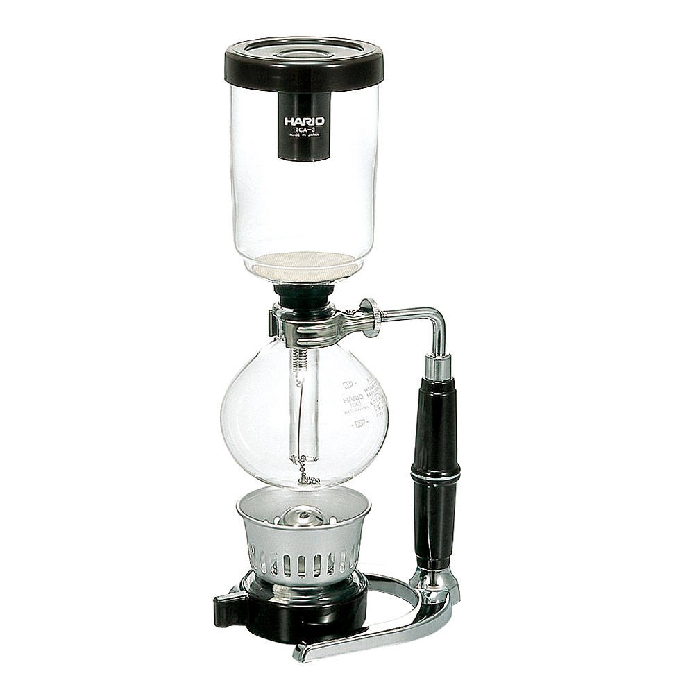 Vacuum Coffee Maker Grind Size : Hario Coffee Maker Siphon Syphon Boil Glass Vacuum Brewer TCA-3 3 Cup Size 12 oz