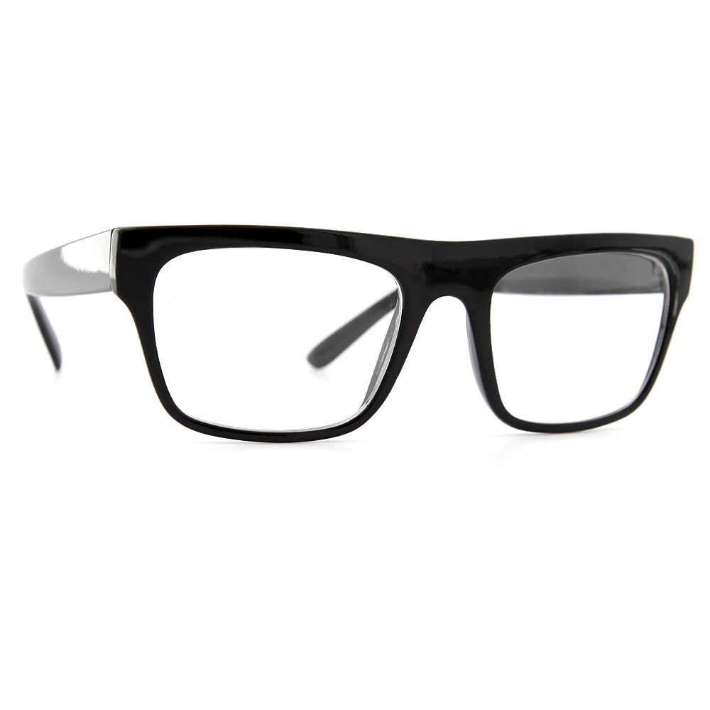 grinderPUNCH Flat Top Clear Lens Sunglasses Glasses Wayfarer Style Modern Unique Thick Brow at Sears.com