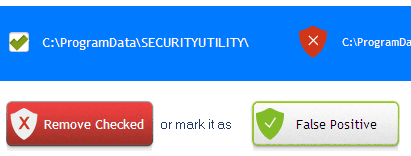 Review the detected threats