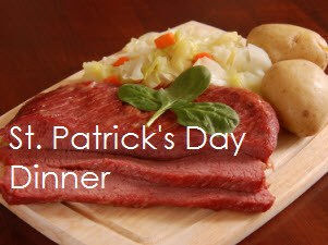 St. patrick s day with text