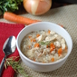 Skinny Crockpot Chicken Wild Rice Soup