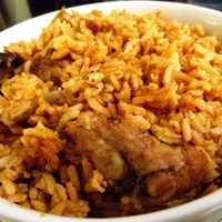 Chicken rice (Locrio de pollo)