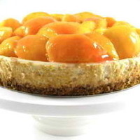 Summertime Fresh Peach Pie Topped Cheesecake Made Skinny
