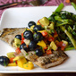 Grilled Mahi with Blueberry-Mango Salsa