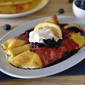 Blueberry Breakfast Enchiladas with Cornmeal Crepe Recipe