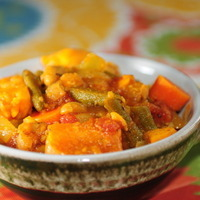 Moroccan-Spiced Chickpea and Sweet Potato Stew
