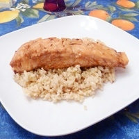 Asian-style Himalayan Salt Block Salmon