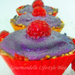Raspberry and Blueberry Raw Vegan Cupcakes