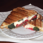 Summer Tomato, Mozzarella, and Basil Panini with Balsamic Syrup from Cooking Light Magazine, August 2011