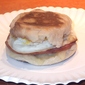 Ham and Swiss Egg Sandwiches from Cooking Light Magazine, August 2011