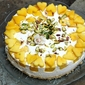 Dessert| No Bake Upside Down Mango Quark Cheese Pie … #pieformikey