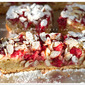 Raspberries, White Chocolate & Almond Blondies