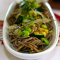 What a nouille! – Soba noodles with edamame, grilled zucchini and Chinese cabbage – lemon basil pesto