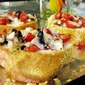 Tomato, Basil and Olive Bruschetta