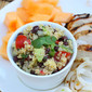 Quinoa Salad with Avocado, Black Beans and Chipotle Lime Dressing