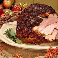 Image of Roasted Fresh Ham With Cider Glaze Recipe, Cook Eat Share