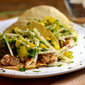Cumin and Coriander Crusted Mahi Tacos with Pineapple-Jicama Slaw