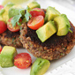 Black Bean Patties with Avocado & Tomato Salsa Recipe