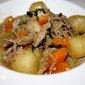 Slow Cooked Duck with Butternut Squash and Potato Gnocchi with a Savory Parmesan Sauce
