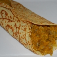Crêpes Filled with Savory Sage Sausage and Buttercup Squash