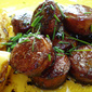 Sausages in balsamic sauce