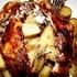 Pollo al horno relleno de papas gratinadas