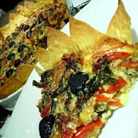 Tortilla crust Vegetable Ricotta QUICHE {gluten-free}
