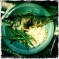 Grilled Whole Trout with String Beans & Almonds
