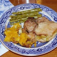 Image of Apple Stuffed Pork Chops Recipe, Cook Eat Share