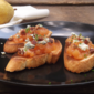 Pear Chutney Bruschetta with Pecans and Blue Cheese from Cooking Light Magazine, October 2011