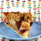 Old- Fashioned Apple Crumb Pie with Cranberries