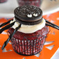 Blood-Red Spooky Spider Cupcakes