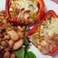 Stuffed Ham and Couscous Capsicum