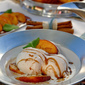 Warm Peaches Foster with Vanilla Bean Buttermilk Ice Cream Recipe
