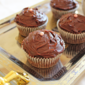 Decadent Chocolate Cupcakes with Dark Chocolate Ganache