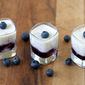 Panna Cotta with Blueberry Sauce
