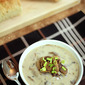 Cream of Mushroom Soup with White Wine and Leeks