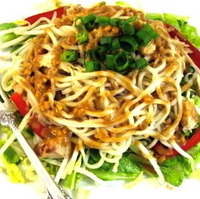 Image of Thai-riffic Noodle Chicken Salad With Peanut Dressing Recipe, Cook Eat Share