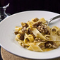 Tagliatelle with Walnuts and Pork sauce Sicilian style