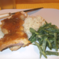 Chicken Thighs with Orange-Ginger Glaze and Dijon Green Beans from Cooking Light's Fresh Fast Food Cookbook