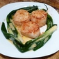 Scallops in Scallion Nests