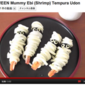 Halloween Mummy Shrimp (Ebi) Tempura Udon - Video Recipe