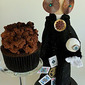 Steampunk Chocolate Ganache Cupcake