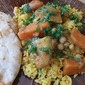 The Sultan's Golden Chicken with Sweet Potatoes and Chickpeas