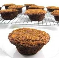 Pumpkin Honey Bran Muffins, Super Healthy and Flourless