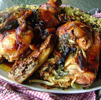 Image of Baked Quartered Chicken With Dried Apricots!!! & Delicious Rice!!! Recipe, Cook Eat Share